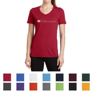 Port & Company® Ladies' Performance Blend V-Neck Tee