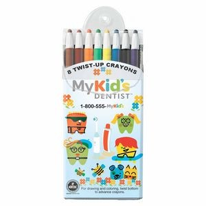SimpliColor Twist Crayons - Set of 8 Crayons with Full-Color Front Insert