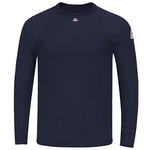 8.75 Oz. Fire Resistant Powerdry Long Sleeve T-Shirt (Navy Blue)