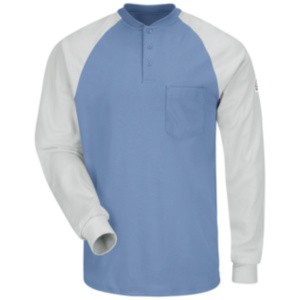 Excel Fire Resistant Long Sleeve Henley T-Shirt
