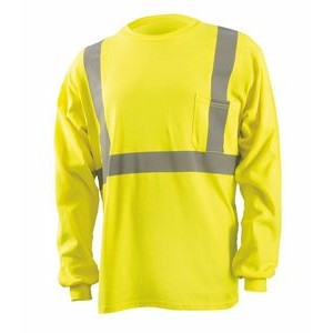 Flame Resistant Dual Certified Long Sleeve T-Shirt w/Pocket