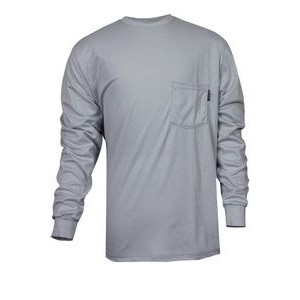 National Safety Apparel® Men's 100% FR Cotton Long Sleeve T-Shirt